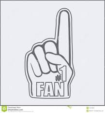 foam finger clipart. fan foam hand baseball finger clipart 0