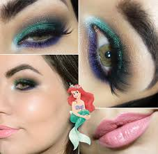 tutorial maquiagem inspirada na pequena sereia mermaid makeupariel