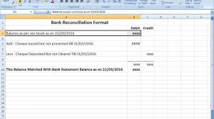 Bank Reconciliation Forms Bank Reconciliation Statement Format In Excel After Seen That You 9