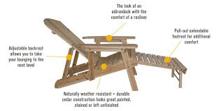 amazing adirondack chair kit tofino cedar furniture view larger with diy adirondack chair