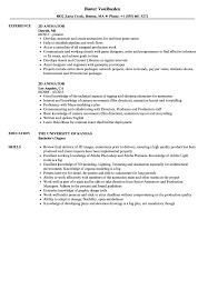 Animator Resume 100D Animator Resume Samples Velvet Jobs 3