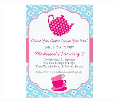 Tea Party Invitations Free Template 41 Tea Party Invitation Templates Psd Ai Free