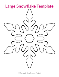 Consider adding glitter to the snowflakes for an added shine effect for the tea party décor theme. 8 Free Printable Large Snowflake Templates Simple Mom Project