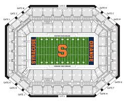 Syracuse Football Dome Seating Chart Interactive Seating Map