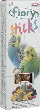 """Палочки для попугаев <b>Fiory</b> """"<b>Sticks</b>"""", с фруктами, 2 х 30 г — купить ..."""