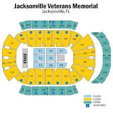 Jacksonville Veterans Memorial Arena Seating Jacksonville
