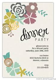 Dinner Invation Modern Floral Dinner Party Invitation