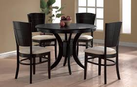 fantastic black round dining table and chairs with circle