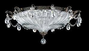 milano 4 light 110v close to ceiling in midnight gild with silver shade crystals from swarovski