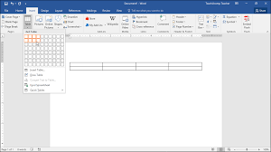 How To Add A Drop Down Box In Word Create Tables In Word Instructions Teachucomp Inc