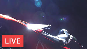 tesla car in space live. watch live: \u201cstarman\u201d \u2013 join spacex live views from space #tesla | car in space tesla car in f