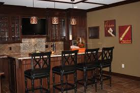 small basement corner bar ideas. Decorations:Wonderful Small Modern Home Bar With Compact Stools Also Stone Wall Design Colonial Basement Corner Ideas