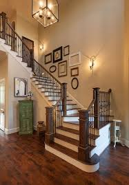 decorate the staircase wall with some empty picture frames design frankel building group