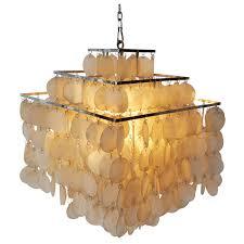 capiz shell chandelier by verner panton for