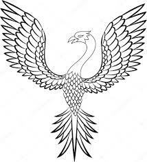 тату птица феникс векторное изображение Idesign2000 11219912