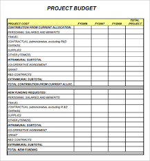 Sample Budget Worksheet Custom 48 Images Of Project Budget Template Leseriail