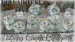 diy dollar tree centerpiece diy dollar bling candles diy home decor craft ideas