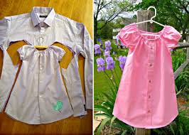 Upcycle Old Clothes Mens Shirt Toddlers Dress Tutorial Easy Video Instructions Dress