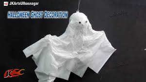 DIY Halloween Flying Ghost Decoration | How to make | JK Arts 751 - YouTube