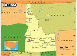 Idaho Base And Elevation Maps