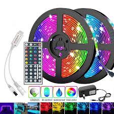 Combo đèn trang trí đèn led tiktok 5M,10M,15M + điều khiển từ xa 44 phím +  bộ nguôn 12v, đèn led dây RGB mix nhiều màu chính hãng