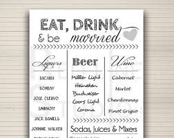 27 Images Of Bar Menu Sign Template | Infovia Inside Wedding Bar ...