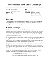 Sample Greeting Letter 6 Examples In Word Pdf