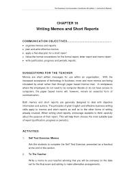 Help Me Write A Memo Report Internal Format Letter Image