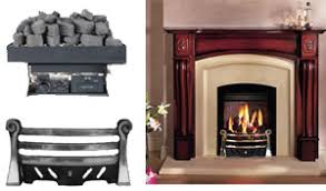 Gas coals for small coal fireplaces