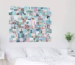 Blue aesthetic wall collage set, VSCO ...