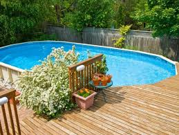 Image Paint Beautiful Landscaping Ideas For Modern Above Ground Pool With Wooden Deck Diy Design Decor 40 Uniquely Awesome Above Ground Pools With Decks