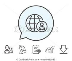 International Business Recruitment Line Icon