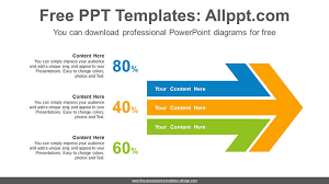 large templates large horizontal arrow powerpoint diagram template