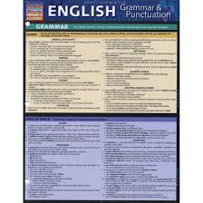 Quick Study Academic Charts Quickstudy Bar Chart English Grammar Punctuation