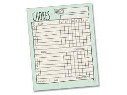 Daily Checklist Chart Jennakate Mint Child Behavior Reward Chore Chart Daily