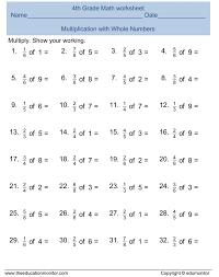 Free Printable Worksheets For 4th Grade Fracti ~ Koogra