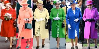 Resultado de imagen de colourful look of the Queen in the wedding