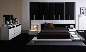 black and white platform bed modern bedroom