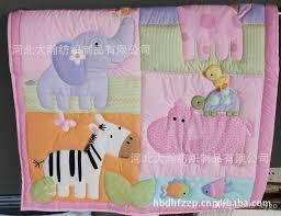 zebra giraffe monkey hippopotamus girl baby bedding sets quilt per bedskirt fitted diaper bag blanket crib