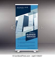 banner design template blue display roll up banner design vector standee template vectors