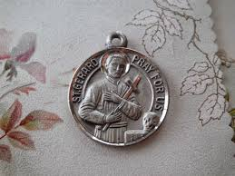 vintage sterling religious st gerard majella with our lady of perpetual help medal or charm