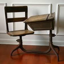 vintage school desk wooden antique childrens 1930s primitive farmhouse