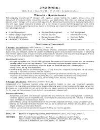 Sample Resume Of Project Manager It Infrastructure Www Omoalata Com