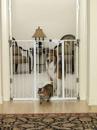 Carlson Extra Tall Expandable Pet Gate with Small Door White - New ...