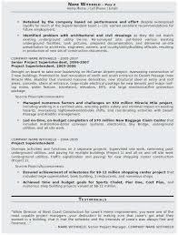 Sample Construction Superintendent Resume Construction Superintendent Resume Templates Sample