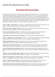 food inc movie worksheet worksheets last added
