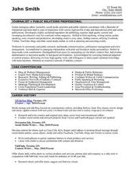 Pr Cv Template 7 Best Public Relations Pr Resume Templates Samples Images