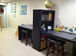Double-desk from Ikea - Kids Zone USA I would love to do this for