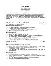 Canadian Resume Sample Free