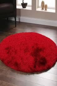 soft round red rug